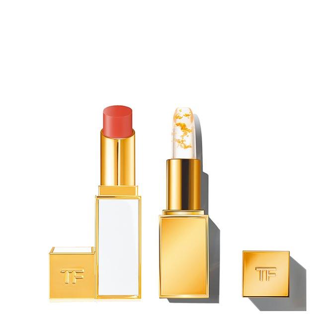 beautySTAGE美麗台獨家限量,TOM FORD BEAUTY金箔脣膏限量組,3850元。(新光三越提供)