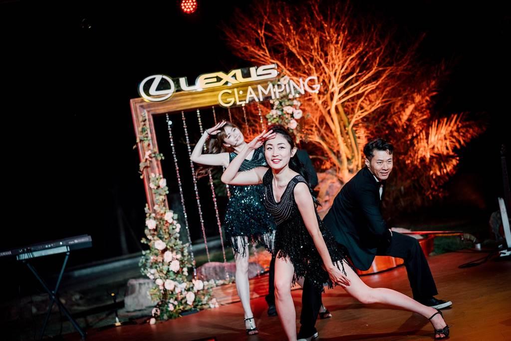晚宴節目規劃爵士樂團、百老匯舞蹈表演。