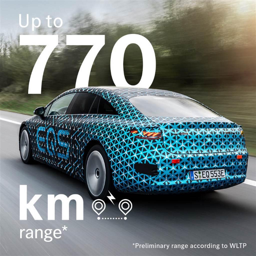 賓士大進化:EQS 豪華電動車續航力暴增至 770 公里