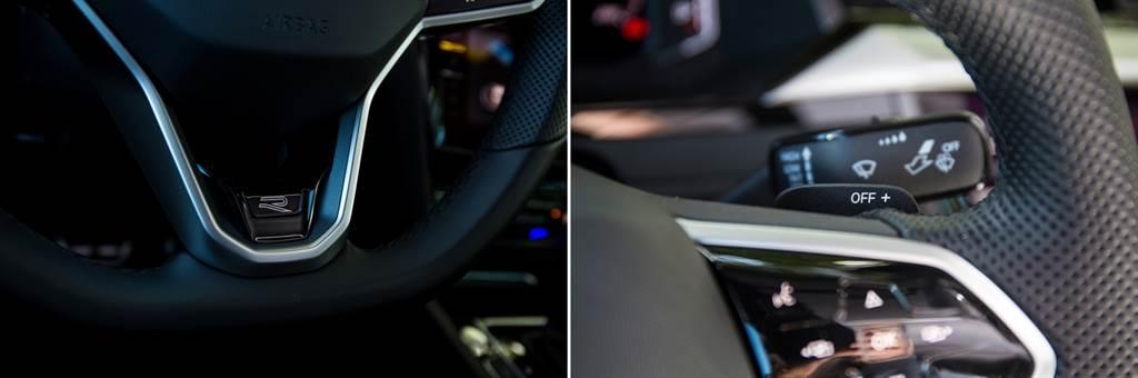 內裝上針對跑格的點綴並不多,僅有方向盤、椅背的R標以及黑色頂蓬,與帥氣的外觀相比有些落差。