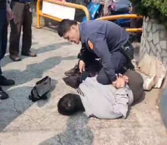 壓制嫌犯遭斷章取義PO網 苗栗分局公布畫面打臉力挺員警執法