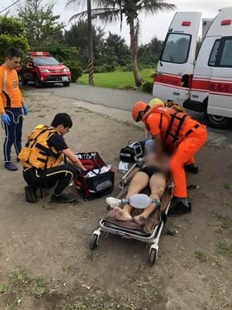 台東成功都歷岸際1男子遭大浪捲走 救起無生命跡象