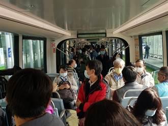 捷運輕軌機動加密班距 確保清明連假輸運順暢