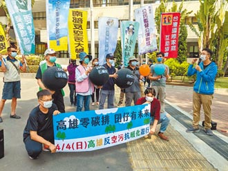 高雄反空汙抗暖化 兒童節遊行