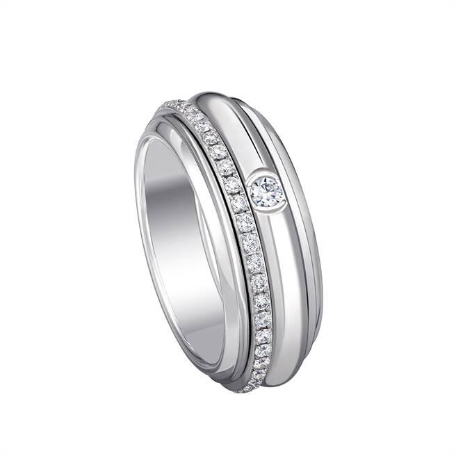 伯爵Possession 系列18K白金鑽石戒指。(PIAGET提供)
