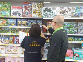 中市府抽查玩具13件不合格 逾期不改善最高罰20萬