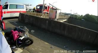 嘉義年輕護理師疑自撞摔3樓高橋下 送醫急救中