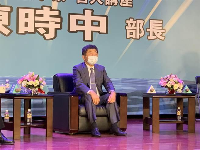 衛福部長陳時中2日受邀至開南大學演講。(姜霏攝)