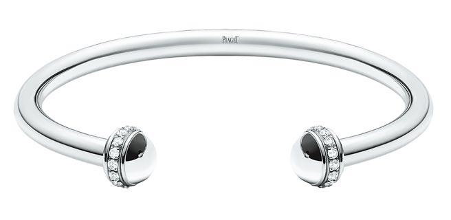 伯爵Possession系列18K白金鑽石手環,18萬4000元。(PIAGET提供)