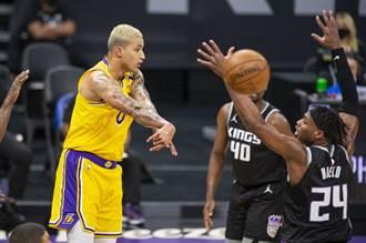 NBA》庫茲馬領軍下三分雨 湖人作客宰國王