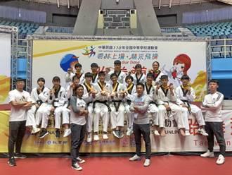 「跆」出連霸!平鎮連兩年包辦全中運男女團冠軍
