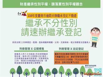 台南市未辦繼承土地9萬筆,請儘速辦理