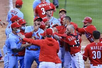 MLB》忘了社交距離?紅人紅雀爆大規模衝突