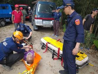 老翁獨走瑞太古道摔落邊坡 警消抄捷徑趕到救人