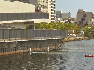 南市運河裝曝氣機 降低魚群暴斃