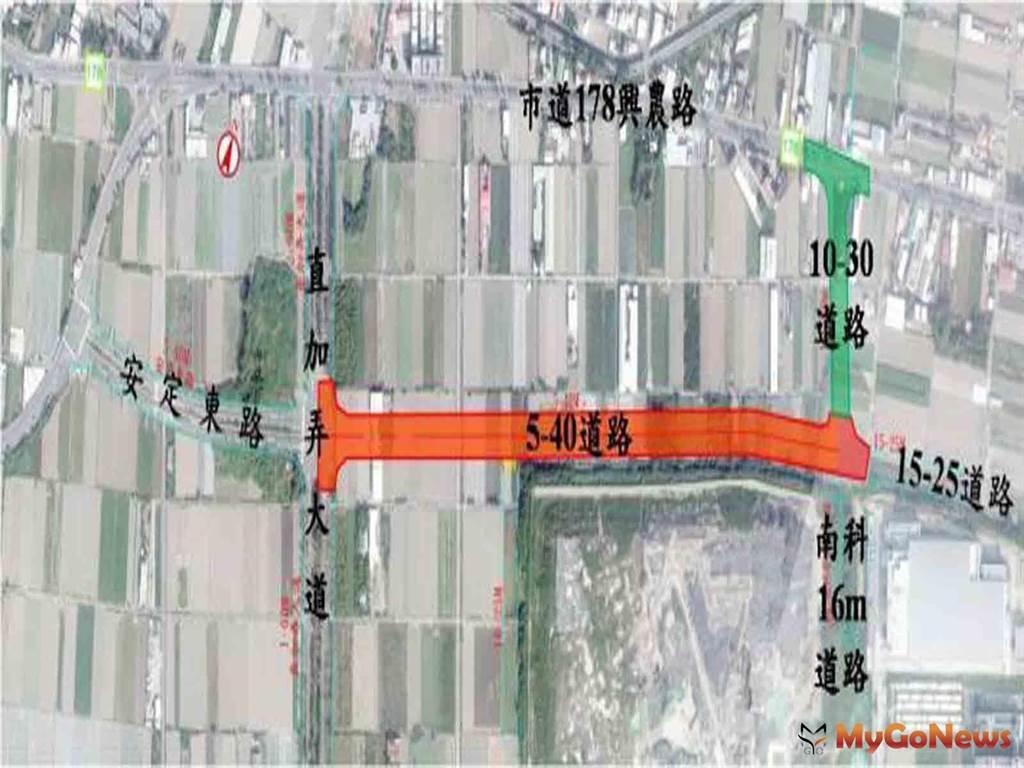 因應南科發展打通交通動脈 特定區2條聯外道路開闢工程預計5月啟動(圖/台南市政府)