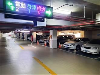 停車更容易 南屯國小停車場試辦專用車格燈號在席顯示