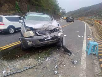台9線丹路段 休旅車與工程車碰撞7人受傷
