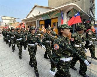 金門自衛隊走過陽翟大街 打卡熱點重現壯盛軍容