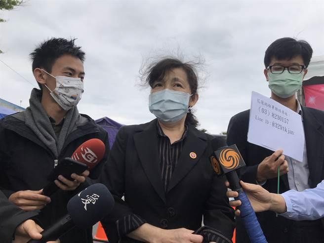 花蓮地檢署檢察長俞秀端表示,無名屍已確認身份,是一名吳姓男子。(陳彩玲攝)