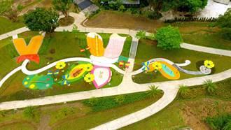 新北碧潭風景區新亮點 700坪「灣潭兒童遊戲場」蝴蝶意象啟用
