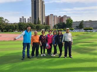中和運動場跑道更新完工 市議員、里長鼓勵民眾多運動