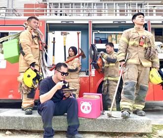 搶《火神的眼淚》電視劇熱 台南消防拍KUSO影片宣導防災