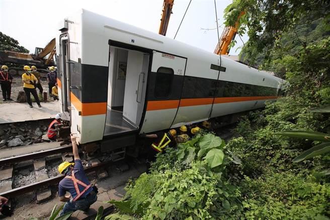 台鐵太魯閣號第408次列車事故,造成50人罹難。(本報資料照)