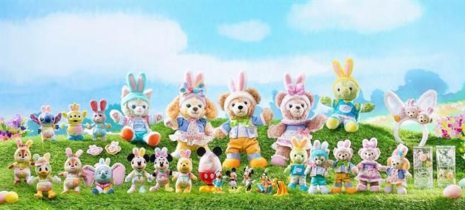 限定「Spring into Dance」系列以米奇與好友及Duffy與好友為主題,推出超過30款超萌商品。(圖/香港迪士尼樂園提供)