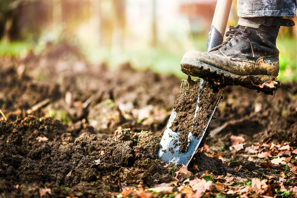 外國一名男子在後院挖到神秘水泥箱,興奮撬開後才發現竟是化糞池,臭到他落荒而逃。(示意圖/達志影像)
