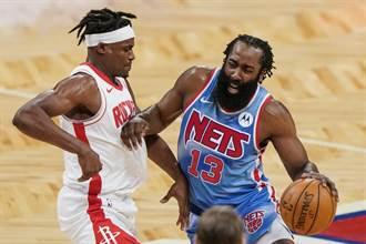 NBA》哈登進10天傷兵 籃網六星合體落空