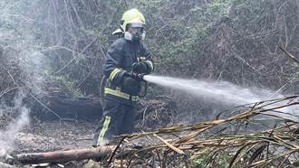 金門田野火燒埔 距離油槽僅約100公尺