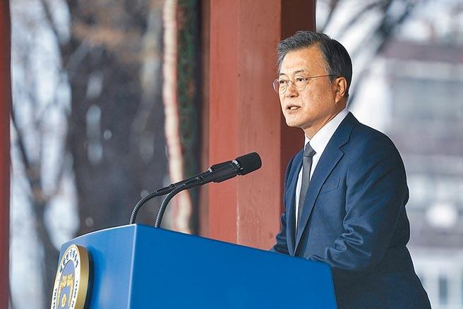南韓首爾、釜山市長補選結果出爐,總統文在寅和執政「民主黨」慘敗。(中新社)