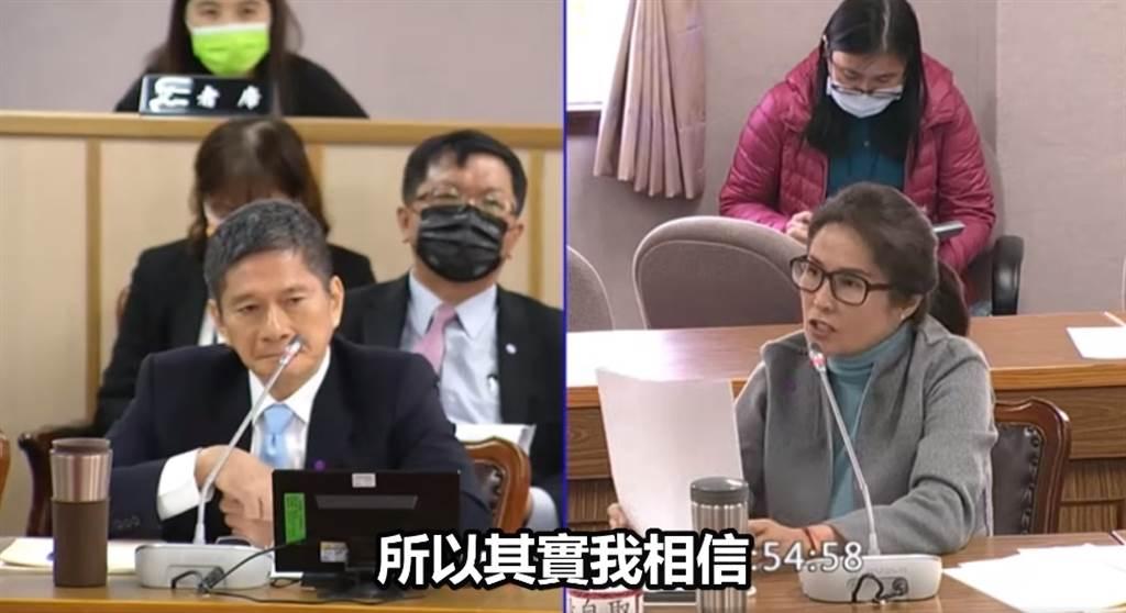 無黨籍立委高金素梅(右)、文化部部長李永得(左)。(圖/翻攝自高金素梅臉書)