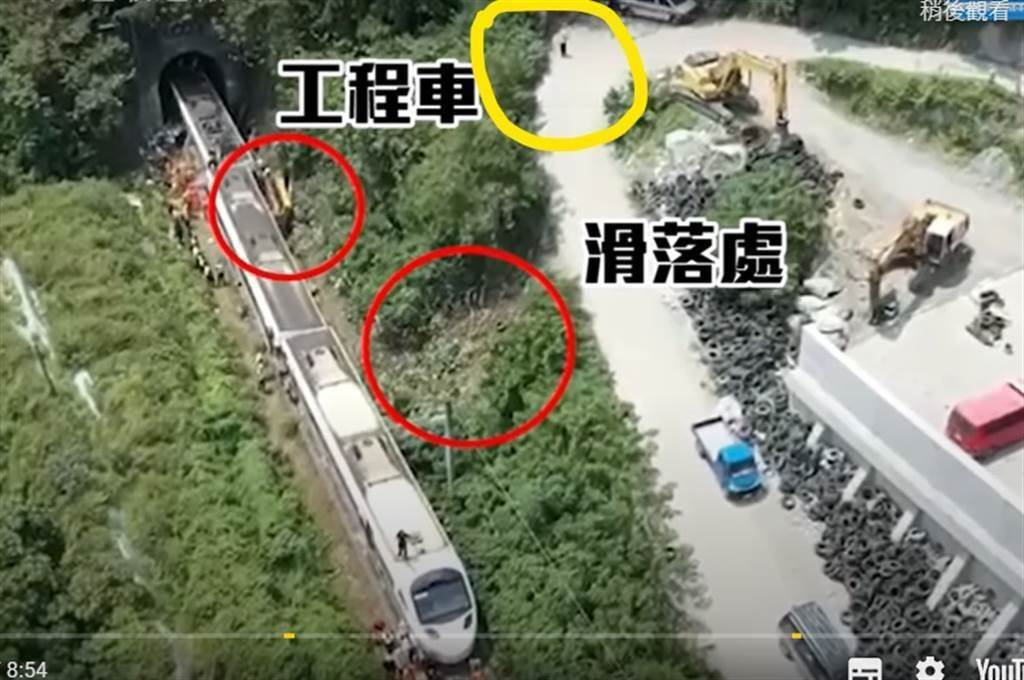 太魯閣號事故現場示意圖。(取自中時新聞網)