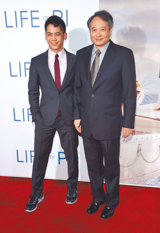 李淳(左)和爸爸李安導演感情好。(資料照片)