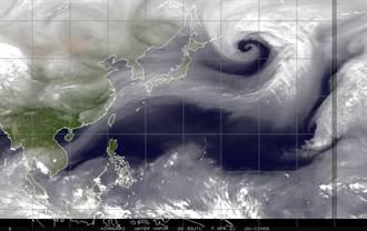 鄭明典PO絕美螺旋線條圖 今天有下雨機會 網嗨爆
