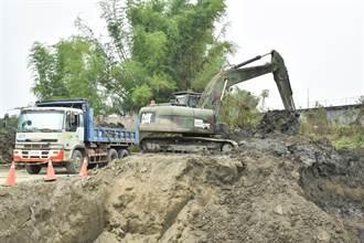 阿公店水庫清淤 立委感謝國軍支援兩個半月