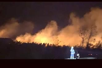 金門晚間再傳火燒埔 北風助威下估逾1500平方米