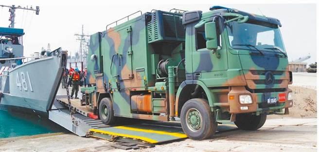 一因張海軍官兵投稿的雷達車照片,意外曝光反匿蹤戰機雷達車部署澎湖而引發海軍及政戰部門恐遭懲處。(翻攝新浪網)