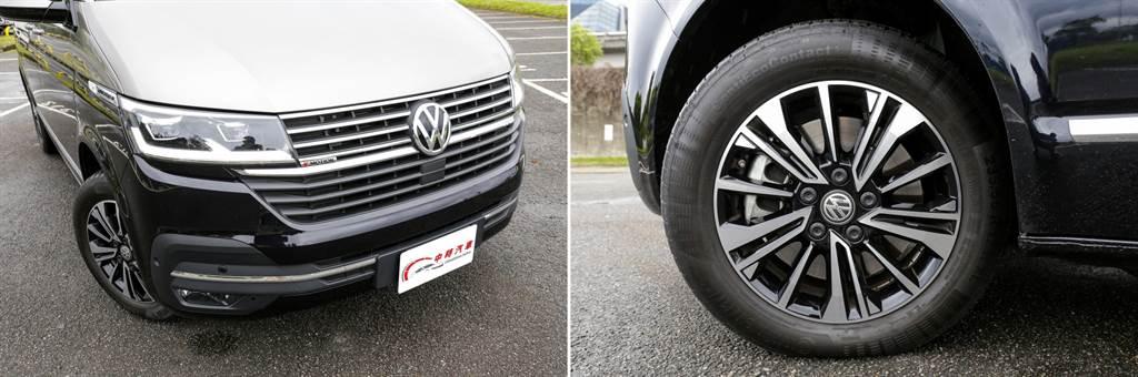 T6.1車系換上更加大器的車頭造型,Multivan在車側另外加上銘牌,輪圈皆採用17吋,在Highline車型更施以雙色塗裝,加強豪華氣息。