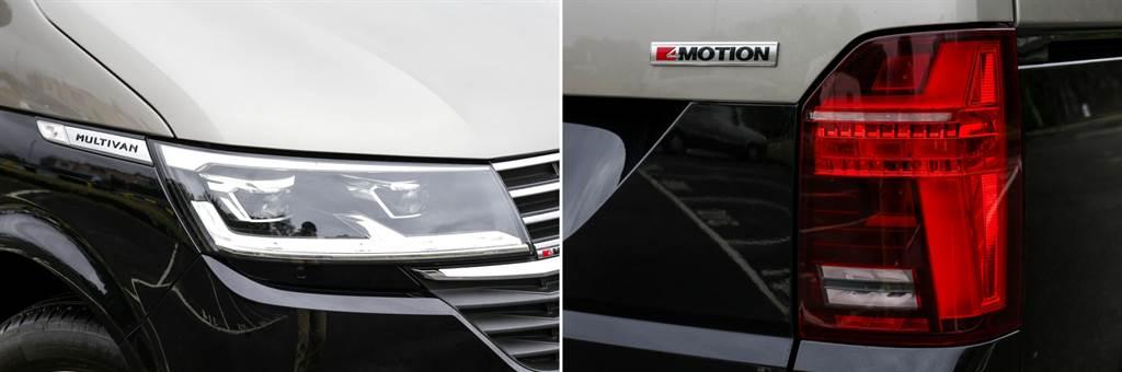 頭尾燈組與日行燈皆採用LED光源,尾燈在T6.1改為橫向的「T」造型,更具辨識度。