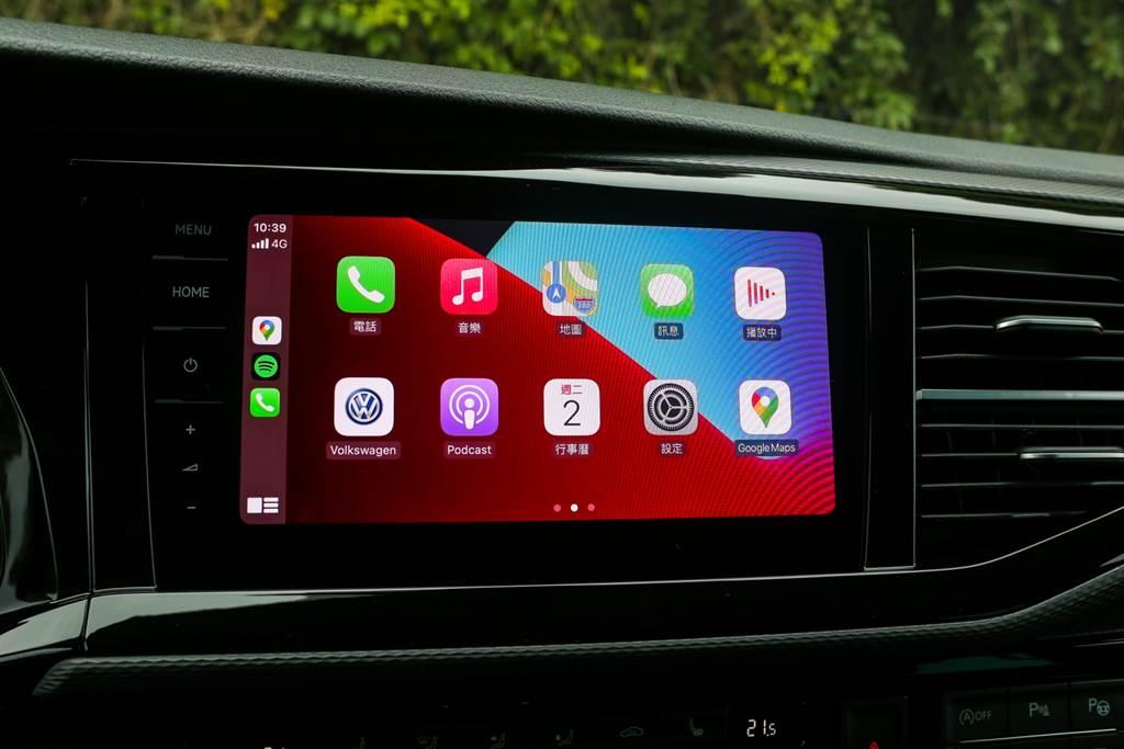 車載系統全車系標配最高階的Discover Pro 9.2吋鏡面觸控螢幕主機,搭配MIB3資訊系統,支援Android Auto/Apple CarPlay。
