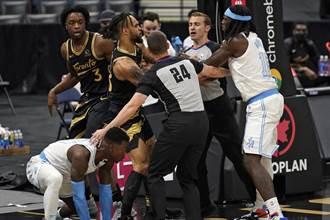 NBA》湖人暴龍打架後續 3人離開板凳席遭禁賽
