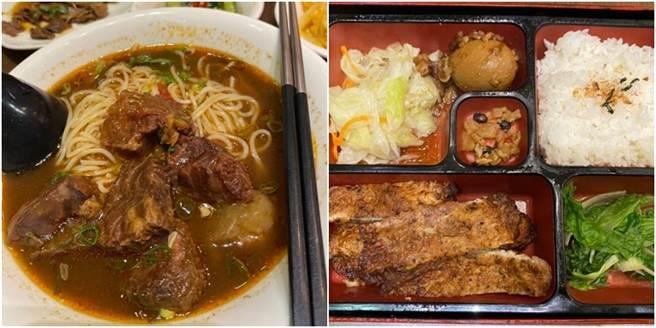 一名網友在網路分享多張美食照,一碗半筋半肉的小碗牛肉麵竟然只要25元,他更曬出菜單,近20個品項都未超過50元,令不少網友暴動。(圖/翻攝自Dcard)