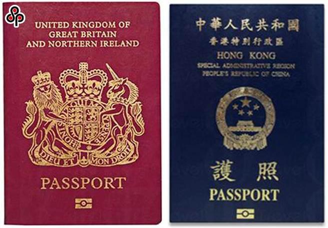 陸學者批英撥款助BNO港人融入當地落地可能性非常小。圖為香港居民特區護照(右)與BNO。(摘自網路)