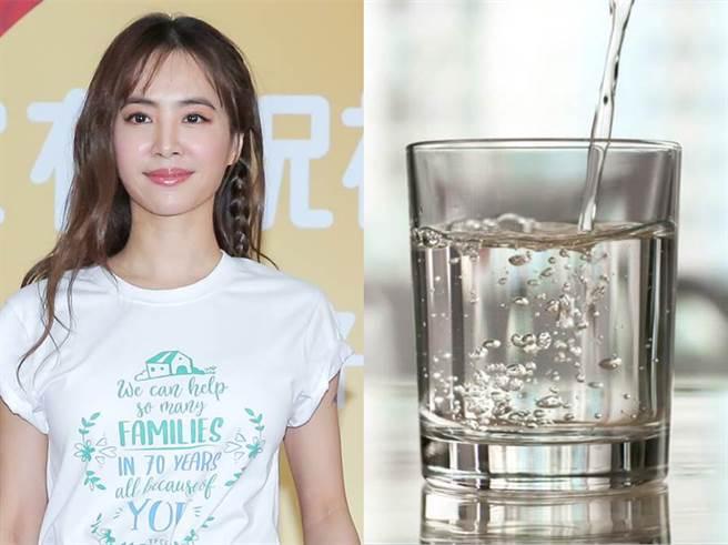 40歲的亞洲天后蔡依林,曾在節目上透露靠每天喝2800CC的水維持完美膚況和身材。(合成資料照)