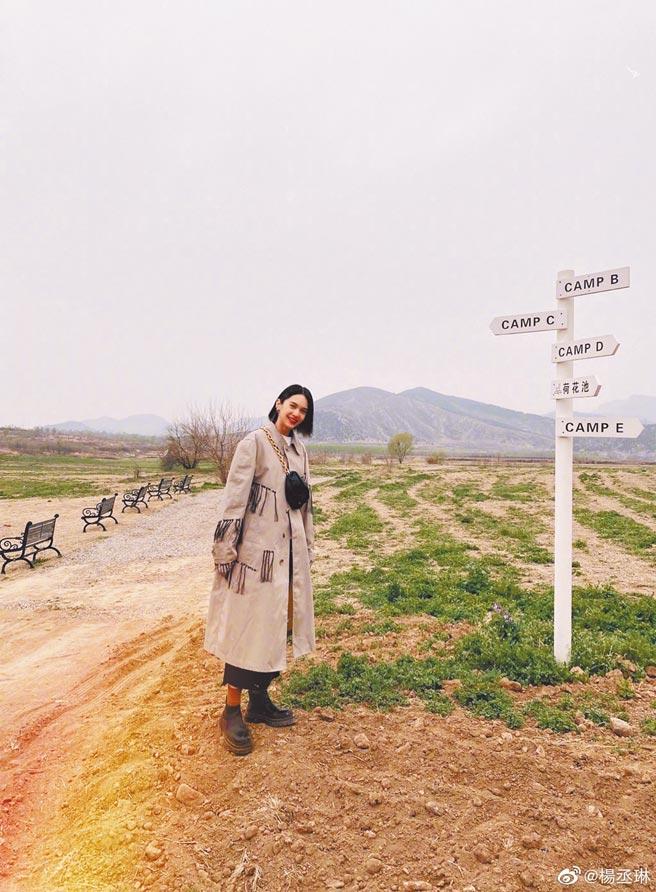 楊丞琳(見圖)和李榮浩在同樣場景拍照放閃。(摘自微博)