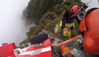 攀登太魯閣大山高山症發作 山友全身抽搐黑鷹直升機驚險吊掛