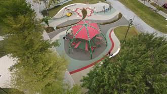 中市黎新公園改頭換面 公園長出能攀爬的大西瓜